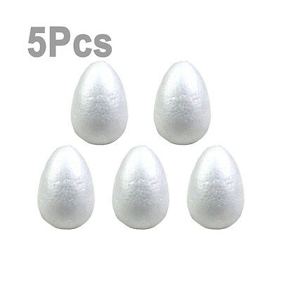 lieomo 5Pcs 120mm Polystyrene Eggs TO Decorate Styrofoam Shapes For Crafts