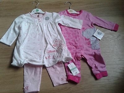 New Baby Girls Clothes (Disney By George ) & Me Too You