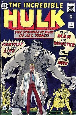 Incredible Hulk #1 Comic Book Photocopy Replacement Wraparound Cover