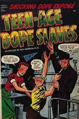 Teen Age Dope Slaves #1 Photocopy Comic Book, (No inside covers, 34 pages)