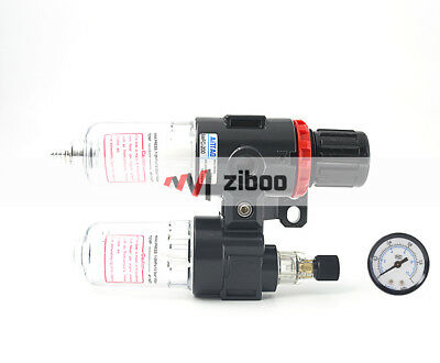 "AFC-2000 1/4"" Air Source Treatment Filter Pressure Regulator Lubricator Combo"