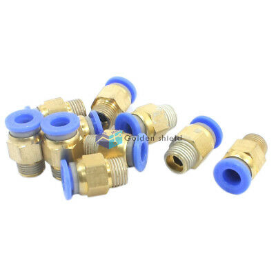 10 PCS 1/8 PT to 6mm Pneumatic Air Quick Release Fitting Joint Connector