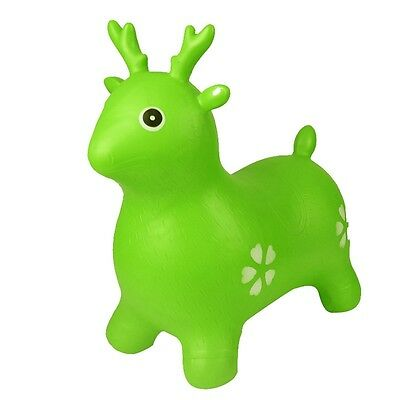 New Kids Toys Inflatable Cartoon Deer Ride-On Space Hopper Outdoor Bouncy Toy