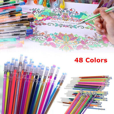 1 Set 48 Colors Gel Pens Set Coloring Sketch Drawing Painting Markers Stationery