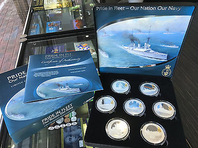 Australia 2013 Pride In Fleet Our Nation Our Navy Limited Edition 7 Medallion Se