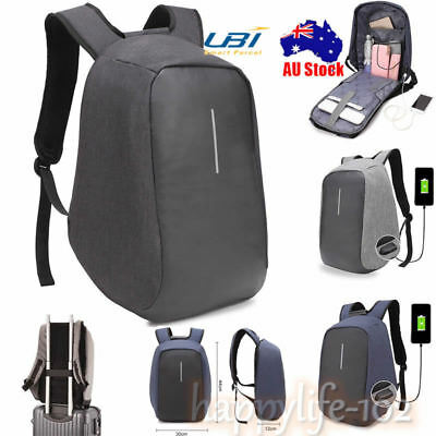 Anti-Theft Camera Laptop Backpack USB Port WaterProof Travel Sport School Bag