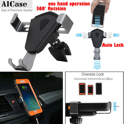 360° Universal Gravity Car Mount Air Vent Holder Stand F Cell Phone GPS Samsung