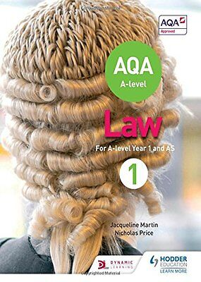 NEW AQA A-Level Law for Year 1/AS, Jacqueline Martin