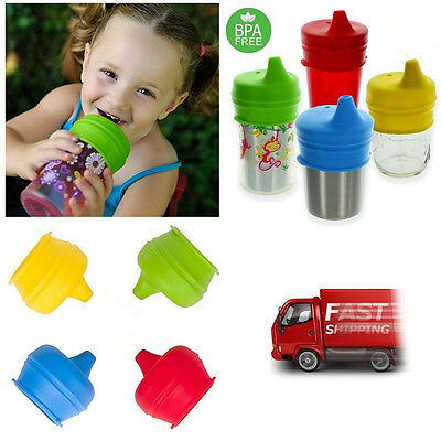 Healthy Silicone Kids Baby Sippy Lids - Make Most Cups a Sippy Cup Leak Proof