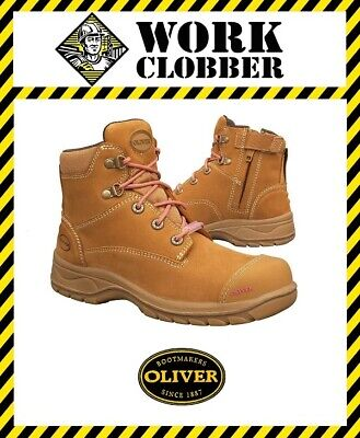 Oliver Ladies Wheat Nubuck Leather Zip Sided Safety Boot 49432Z NEW WITH TAGS!