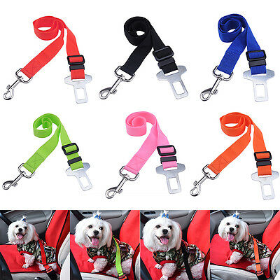 For Pet Cat Dog Car Vehicle Safety Seat Belt Restraint Harness Leash Travel Clip