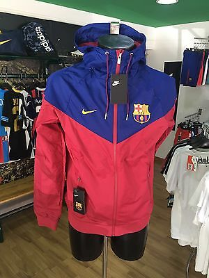 Giacca Vento Calcio Jacket Authentic Windrunner Nike 2017/2018 Barcelona Rosso
