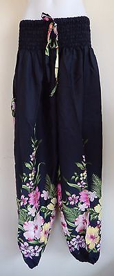 LADIES HAREM YOGA SHIRRED LONG PANTS plus size  22 24  26  $ 20.00 NEW WITH TAGS