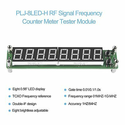 PLJ-8LED-H 8 Digit 0.1~1000MHz RF Signal Frequency Counter Meter Tester LED WS