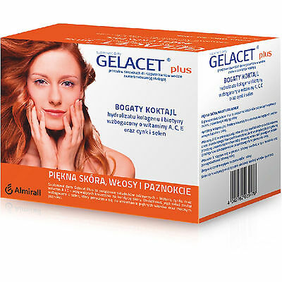 3x Gelacet Plus 21 sachets = 63 sachets /collagen & biotin/skin hair nails