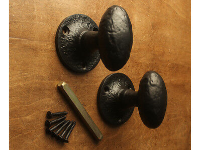 Cast Iron Black Heavy Mortice Lever Door Knobs Handles Vintage Old English Style