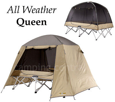 Oztrail Ultimate (Queen) Stretcher Tent Camp Cot Swag Mozzie Dome Instant Bed