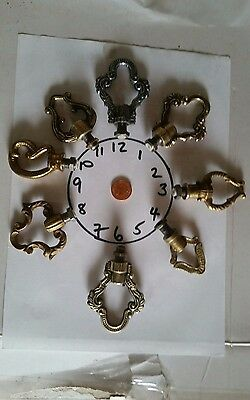 1 of 16 cast brass LAMP ceiling rose HOOK Chandelier RING wire way LIGHTING old