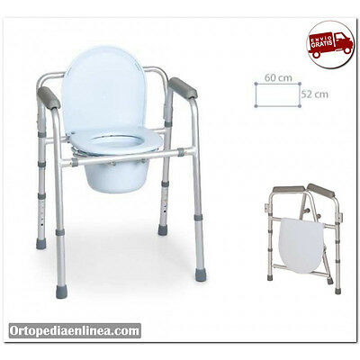 ♡ Silla Ducha, Inodoro, Baño, WC y Plegable 4 en 1. Altura regulable.
