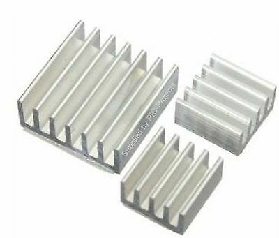 3pcs Heatsink Aluminium Cooler with 3M Thermal Adhesive Pads for Raspberry Pi