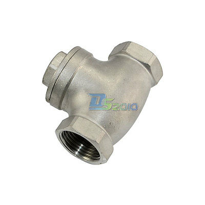 """1"""" Swing Check Valve WOG 200 PSI PN16 Stainless Steel SS316 CF8M BSPT"""