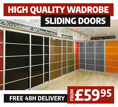 Sliding Wardrobe Doors Solid and Mirrored | High Gloss Finish | Accessories