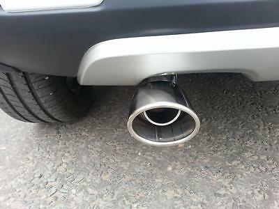OVAL Chrome Exhaust Tailpipe 40-52mm S/Steel fits FIAT PUNTO / GRANDE (CT1A)