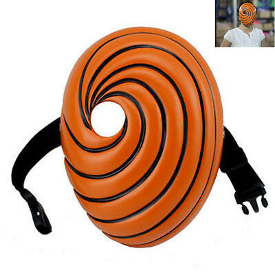 NARUTO Uchiha Mask Tobi Obito Akatsuki Ninja Madara Halloween Cosplay Orange Hot