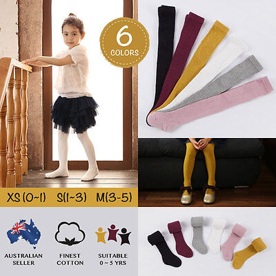 Toddler Infant Kids Baby Girls Cotton Warm Pantyhose Socks Stockings Tights 0-5Y