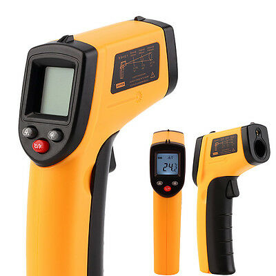 Laser LCD IR Infrared Digital Thermometer Non-contact Temperature Measuring Gun