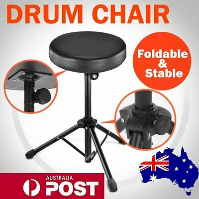 Drum Stool Chair Throne Piano Foldable Music Guitar Keyboard Padded Seat HOT