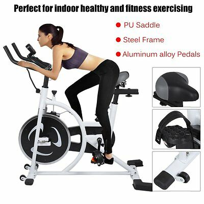 Exercise Bike Spin Flywheel Home Fitness Gym Led Monitor Heavy Duty Ht