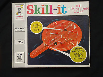 Skill-It The Frying Pan Maze Milton Bradley Game