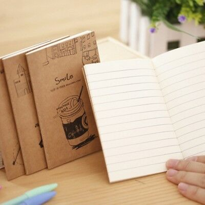 Cute Kraft Cover Journal Diary Note Book Blank Page Stationery Graffiti Planner