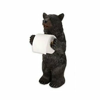 Bear Toilet Paper Holder Decorative Stand Standing Bear