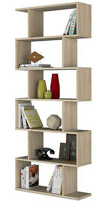Ziggy Oak Effect Bookcase Shelving Bookshelf Lounge And Dining Storage 2605
