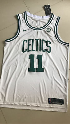 NWT New Boston Celtics Kyrie Irving 11 WHITE Stitched Swingman Throwback Jersey