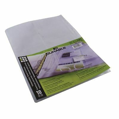 Durable A4 Visifix Business Card Pockets Refill (Pack of 10) 2389 [DB2389]