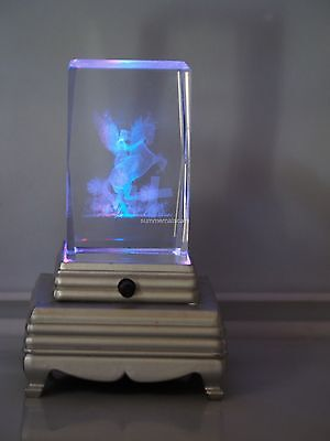 Fairy+ Uni  Crystal  : 3D Laser Crystal  W/Base (Base will vari from picture)