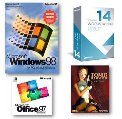 Windows 98 Win 98SE Virtual PC, VMware 14 Pro fully loaded with Audio & SVGA