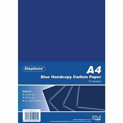 Stephens Blue A4 Hand Carbon Paper (Pack of 100) RS520252 [RS52021]