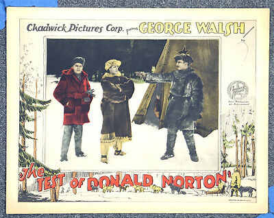 Test Of Donald Norton '26 George Walsh Fur Traders Orig Silent Lobby Card