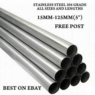 63.5Mm  Stainless Steel T304 De Cat Tubes Pipes All Lengths Exhaust Repair 2.5""
