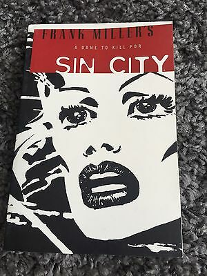 """Sin City Volume 2 Graphic Novel Book """"A Dame to Kill For"""" Frank Miller Movie"""