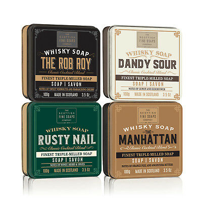The Scottish Fine Soaps Company - Set of 4 Whisky Cocktail Soaps in Gift Tins