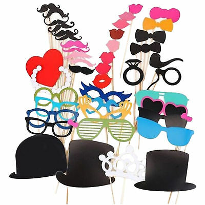44 Photo Booth Props Moustache on A Stick Weddings Christmas Birthday Party Fun
