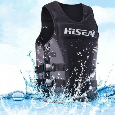 Adults Life Jacket Premium Neoprene Vest Water Ski Wakeboard PFD Grey XXXL