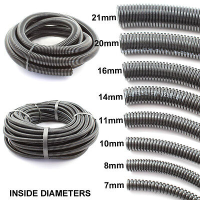 Cable Flexible Conduit / Sleeving Split & Unsplit Loom Harness Various Sizes