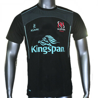 Kid's Ulster Rugby Performance Athletic Fit Tee - Black (2017-2018) S44675