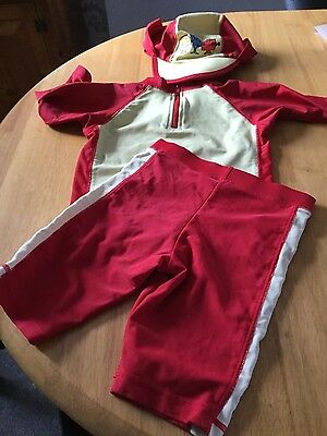Boys UPF 40+ Shorts top and hat Sun/ Swim Suit 2-3yrs